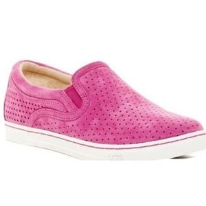UGG adley perforated loafers fuschia fierce suede